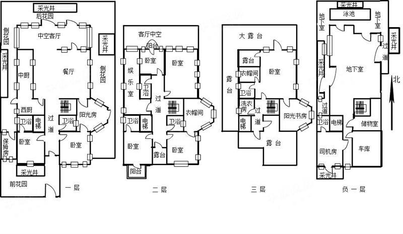 曦城三期獨棟別墅大莊園 毛坯改建好可直接裝修