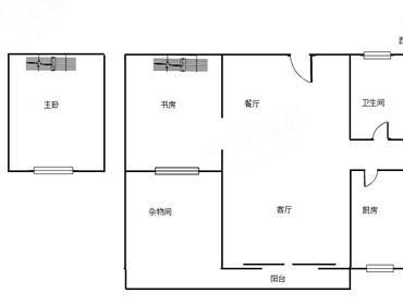 中海西岸华府北区 2房2厅1卫1阳台